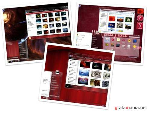 3 Dark red Themes for Windows 7
