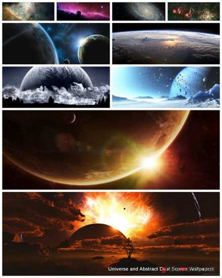25 Universe and Abstract Dual Screen Wallpapers