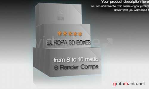 Videohive AE Project - EUROPA 3D BOX