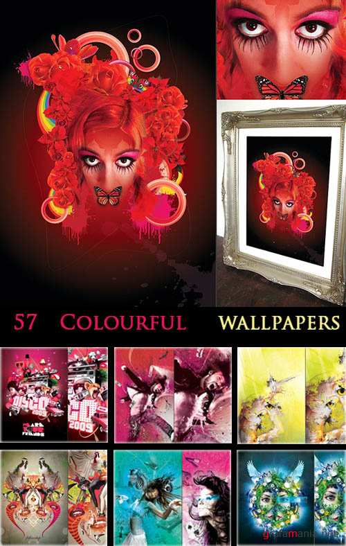 57 Colourful wallpapers