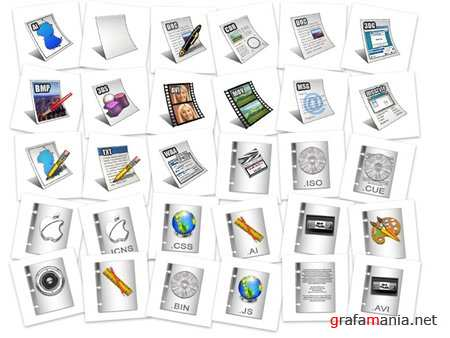 Files formats icons pack