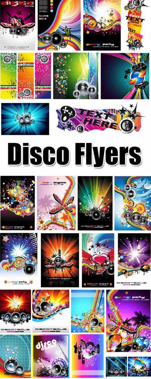 Disco Flyers Vector