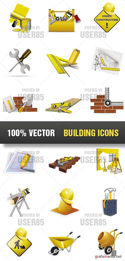 Stock Vector - Building Icons