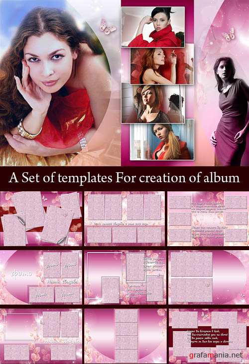A Set of templates For creation of album