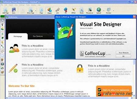 Portable CoffeeCup Visual Site Designer v6.0 Build 6 + Themes