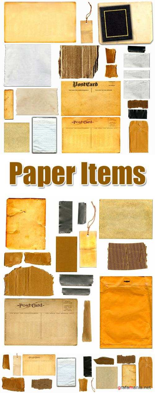 Stock Photo - Paper Items
