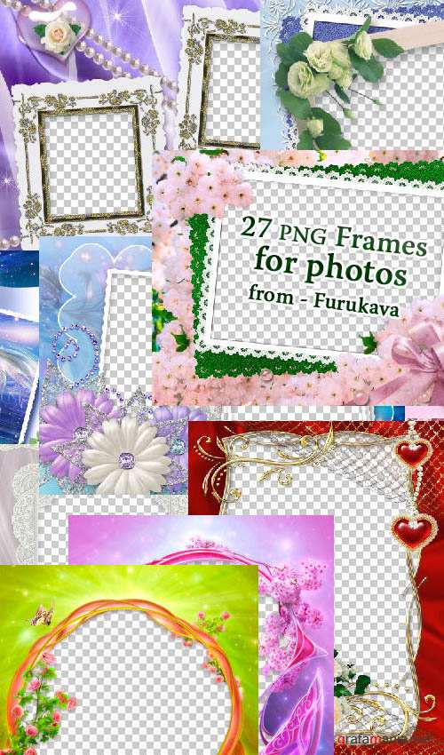 27 PNG Frames for photos from - Furukava