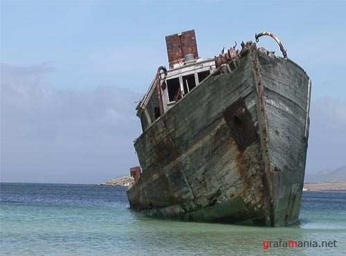 "Footage ""Derelict Boat In The Falklands"""