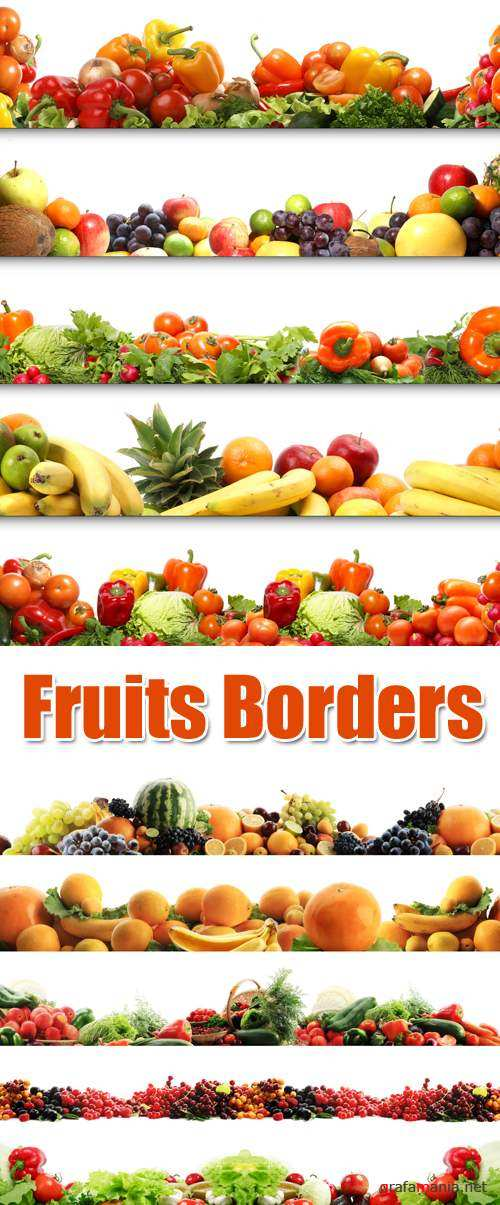 Stock Photo - Friut Borders