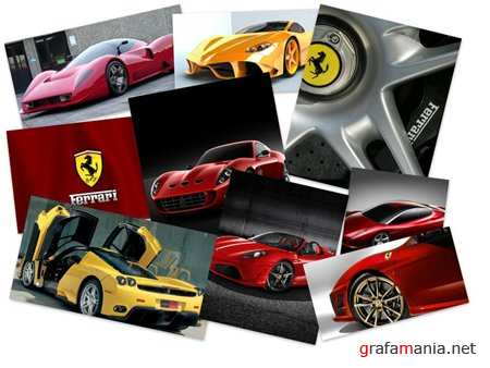 Wallpaper with the image of Ferrari