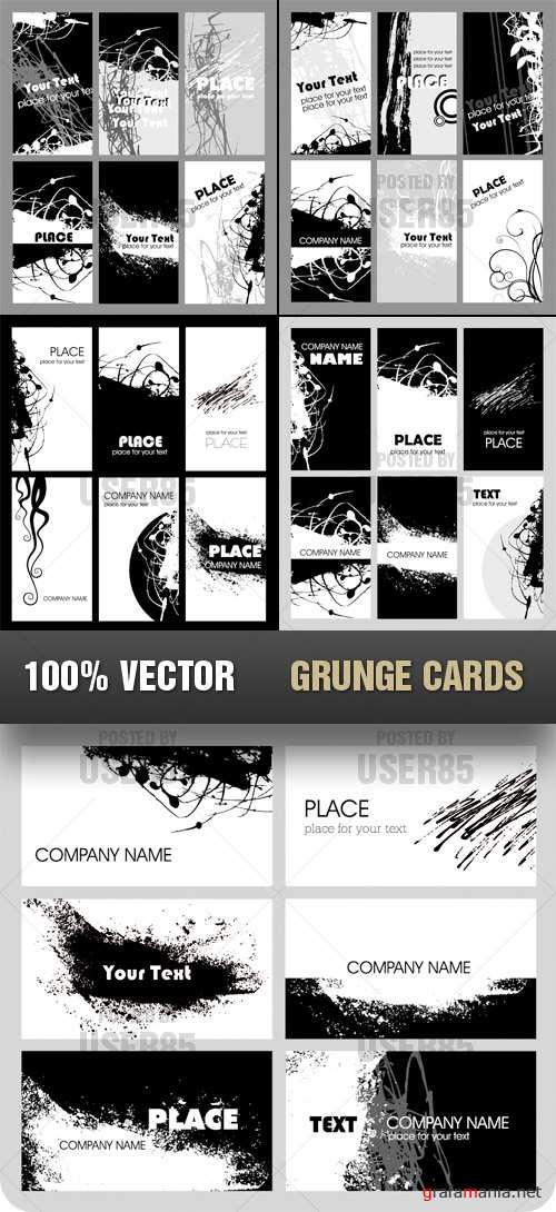 Stock Vector - Grunge Cards