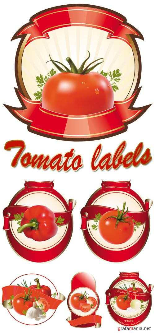 Tomato Labels Vector