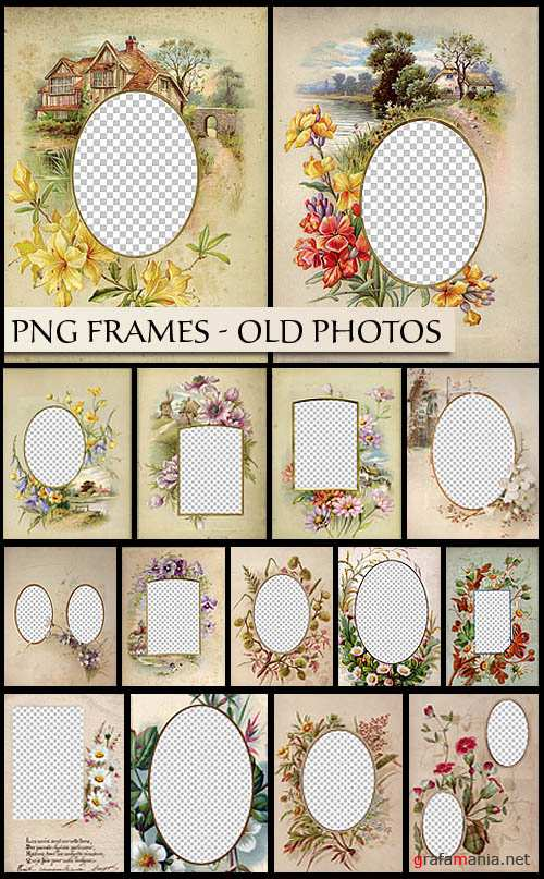 PNG Frames - Old Photos
