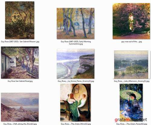 Beautiful Artworks by Guy Rose