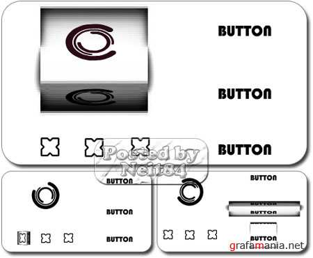 FLASDEN 3D box buttons