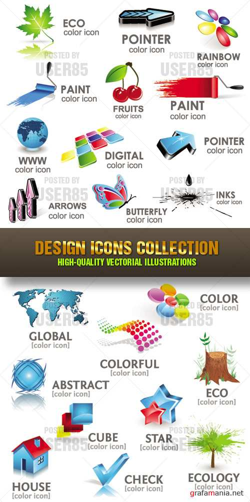 Stock Vector - Design Icons Collection