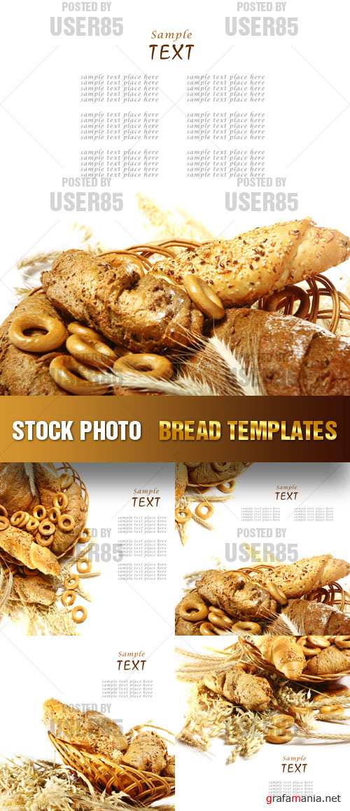 Stock Photo - Bread Templates