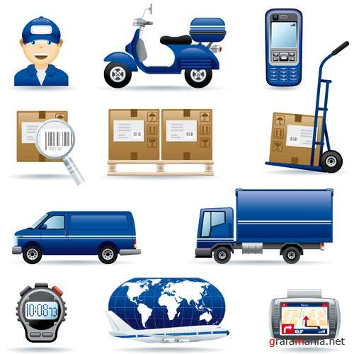 Stock Vector - Logistic icon