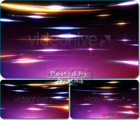 VideoHive motion Fast Curved Multicolor Streak Lights