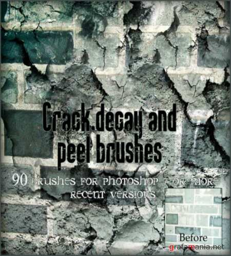 Кисти для Фотошоп: Brush Photoshop - Crack Decay Peel