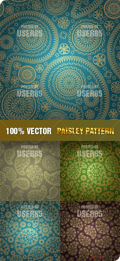 Stock Vector - Paisley Pattern