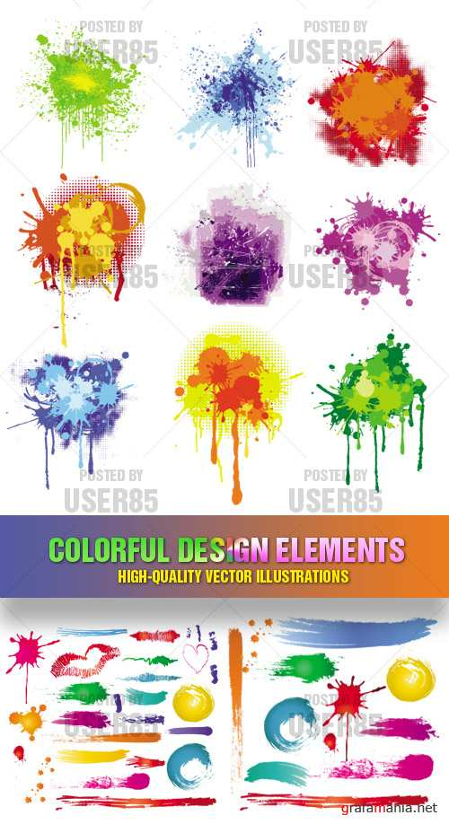 Stock Vector - Colorful Design Elements
