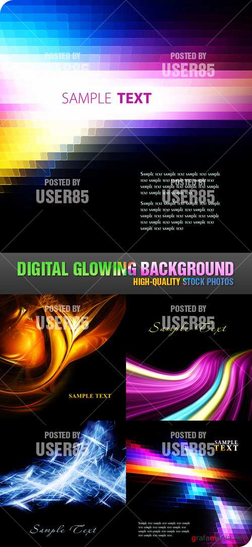 Stock Photo - Digital Glowing Background