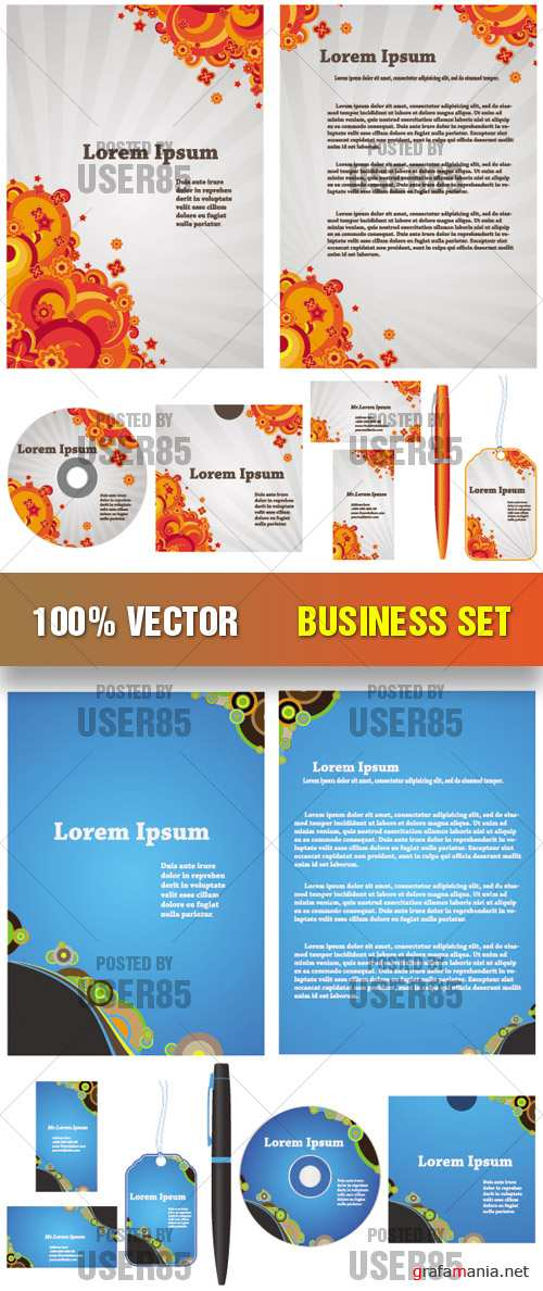 Stock Vector - Business Set