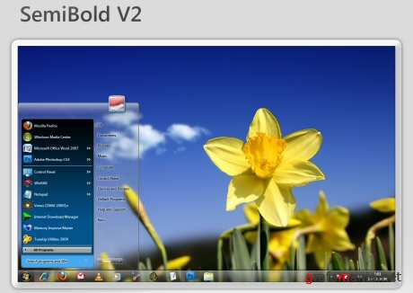 SemiBold V2 Windows 7 Theme