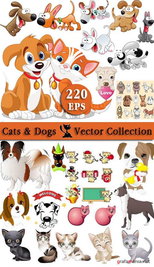 Cats & Dogs Vector Collection