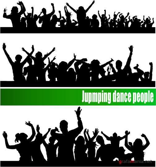 Jumping dance people