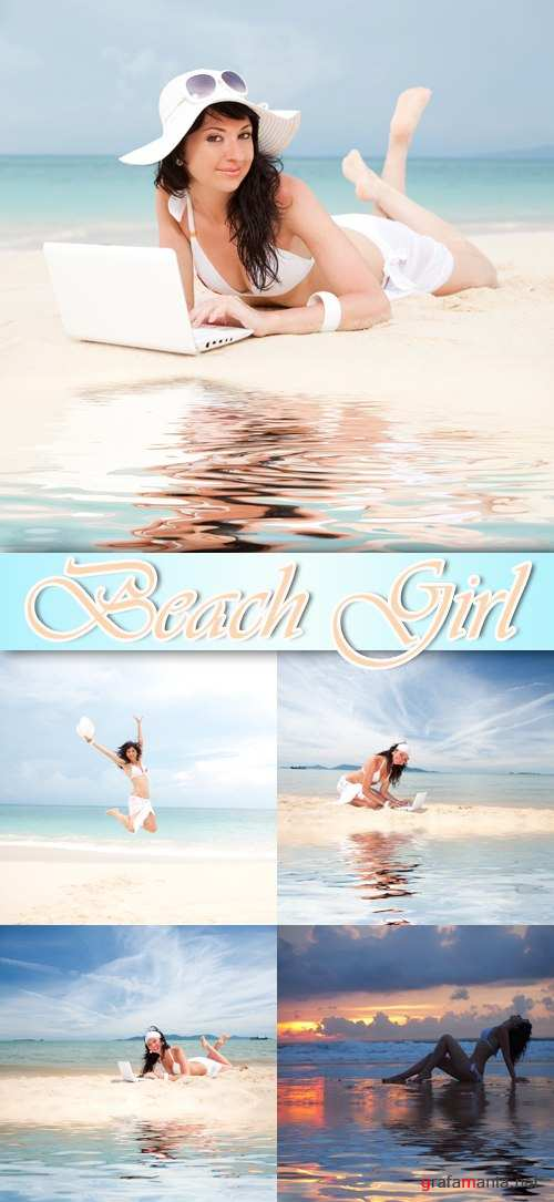 Stock Photo - Beach Girl