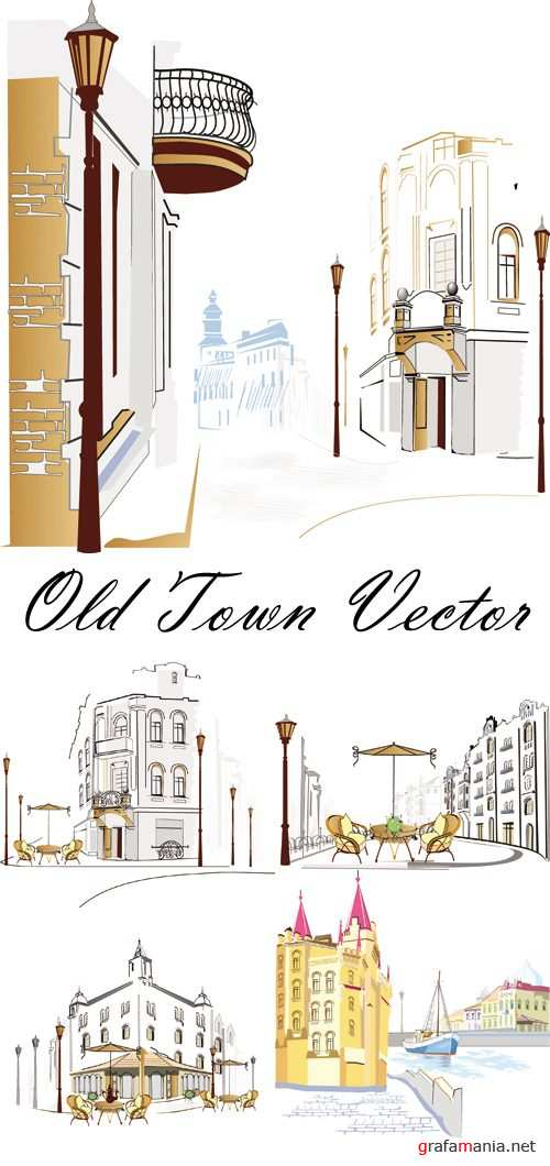 Old Town Streets Vector