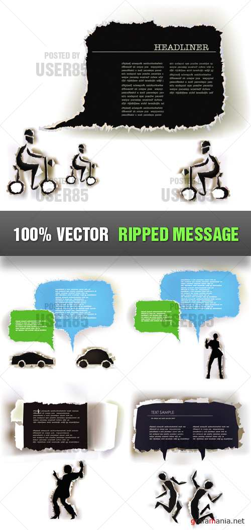 Stock Vector - Ripped Message