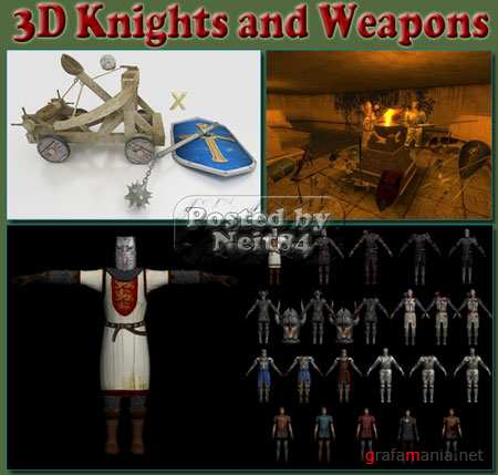 3D Knights and Weapons