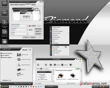 Diamond – Black And White Xp Theme