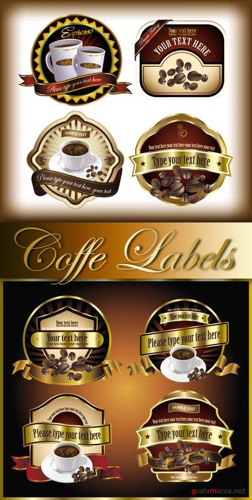 Coffee Labels Vector
