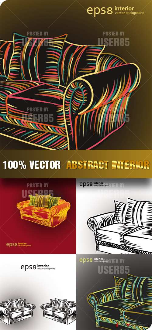 Stock Vector - Abstract Interior