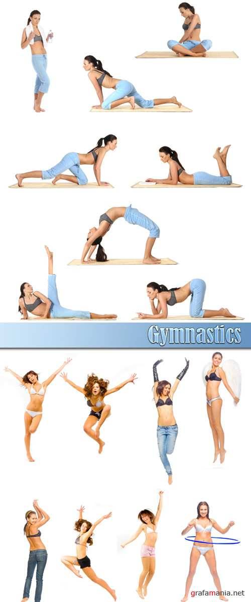 Infographic tutorials by a gymnast