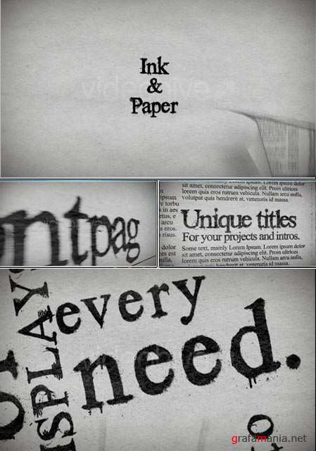 Videohive After Effects Project ink paper 87328