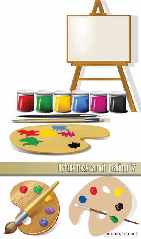 Brushes and paint 7