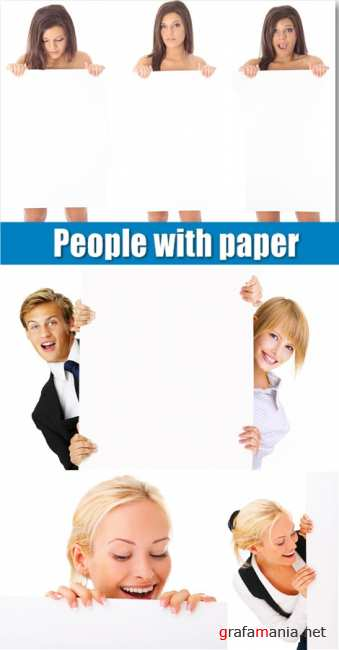 People with paper
