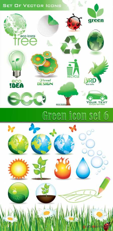 Green icon set 6