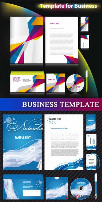 Business template 5 - vector
