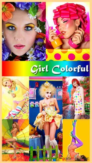 Girl Colorful Clipart