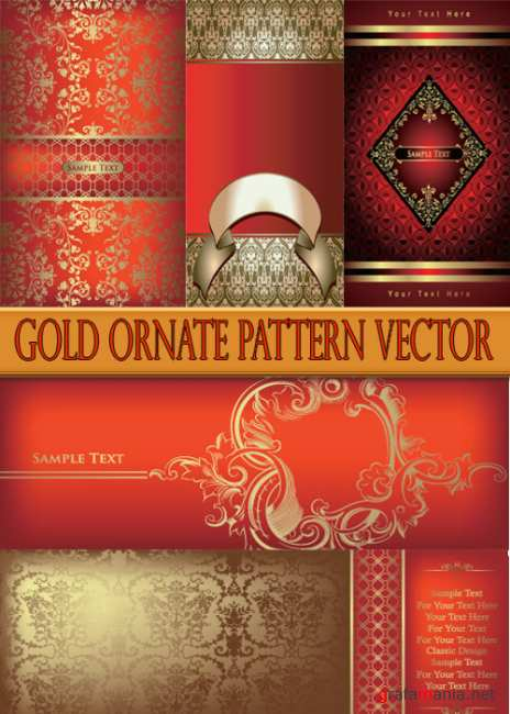 Gold ornate pattern vector