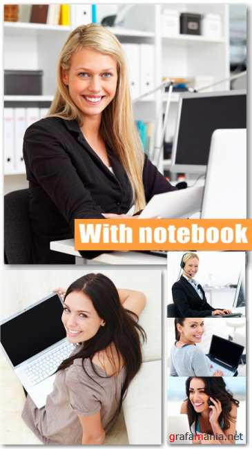 Women with notebook