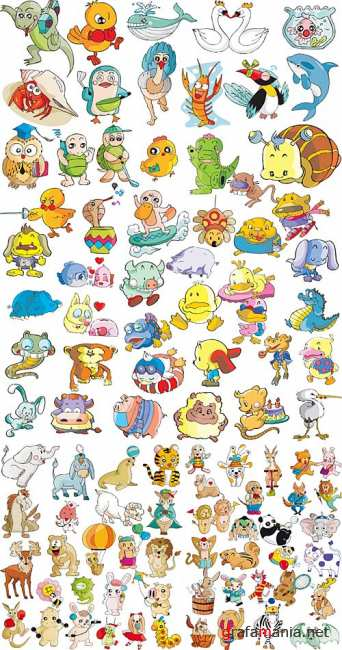 Cartoon animals vectors