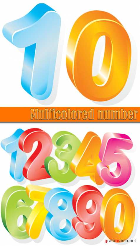 Multicolored number