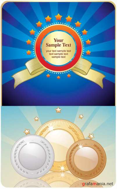 Stock Vector - Medals Set